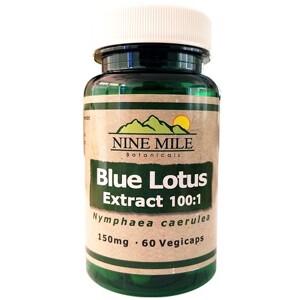 Extrait de lotus bleu 100:1 en gélules (Nine Mile Botanicals)